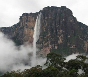 Angel Falls ● Churún Vena ● Salto Angel is the world's tallest waterfall at 3,212 feet (790 meters). Photo Credit: Karen Angel, 3 July 2012